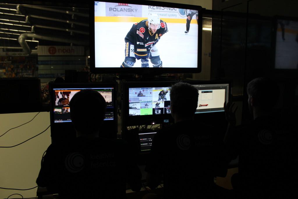 Hokejový přenos - studio